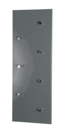 Haku-Möbel 42190 Wandgarderobe 80 x 6 x 30 cm, grau/Chrom/Nickel