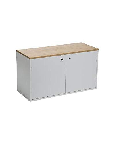 Mueble zapatero 2 puertas 80 x 34 x 45 cm