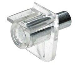 Pihami–Supporto scaffale Reggipiano per 3mm foro 12pezzi con rivestimento in plastica Reggipiano porta