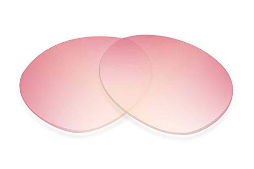 SFx - Lentes de repuesto para gafas de sol compatibles con Carrera Champion 66 mm (diamante no polarizado, degradado rosa, color dorado, par SFx Diamond)