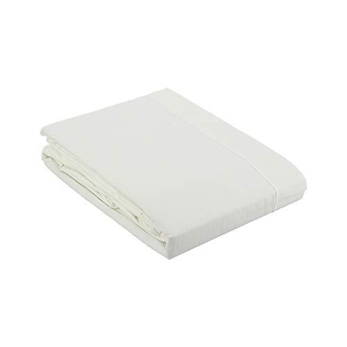 Drap Plat Percale 270x300 Blanc - Couleur: Blanc