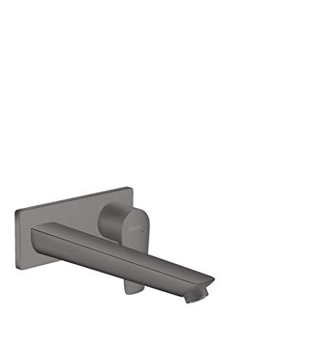 Hansgrohe Talis E - Rubinetto da incasso con erogatore, lunghezza 225 mm, per montaggio a parete, colore: Nero spazzolato