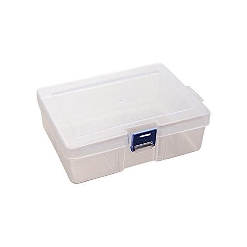 QPALZMGK Caja De Almacenamiento Apilable con Diseño De Hebilla Integrada Diseño De Gancho Portátil Transparente 16.4 * 11.8 * 5.8Cm Adecuado para Objetos Pequeños Y Otras Manualidades