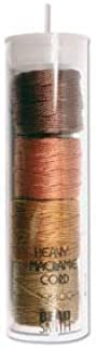 S-Lon Heavy Bead Cord, Earth Tone Mixture, 0.9mm Diameter 4 Spools