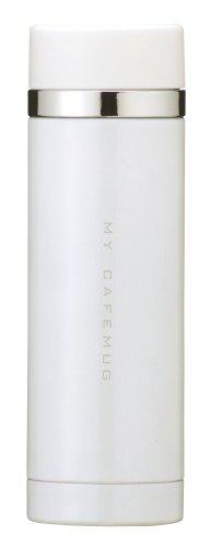 PEARL METAL Co.Ltd. Parukinzoku Water Bottle 300ml Straight Drinking Stainless Mug Pure White Premium My Cafe Slim Direct H-6929