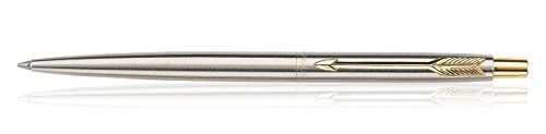 Parker Classic Stainless Steel Ballpoint / Ball Pen Chrome / Gold Clip GT by Parker