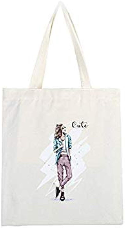 Bloomerang Canvas Girls Tote Bag Printing Bag Girl Flap Beach Bag Canvas Bag Shoulder Versatile Handbag color SMV-013