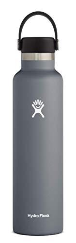 Hydro Flask Trinkflasche 709ml (24oz), Edelstahl und vakuumisoliert, Standard-Öffnung mit auslaufsicherer Flex Cap, Stone