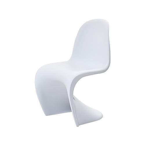 JUANstore Kreativer Kunststoff Esszimmerstuhl, Für Kinder Kinderrücken Haushalt Panto'n Stuhl Zimmer Dekoration,Weiß
