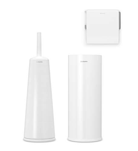 Brabantia WC-Garnitur, Stahl, Weiß, Einheitsgröße