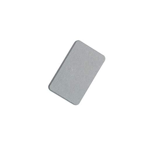 Cabilock 2 Stück Kieselgur Seifenschale Saugfähige Seifenstückhalter Sparschale Selbsttrocknendes Kieselgurkissen für Badezimmer Badewanne Dusche Zubehör (Grau)