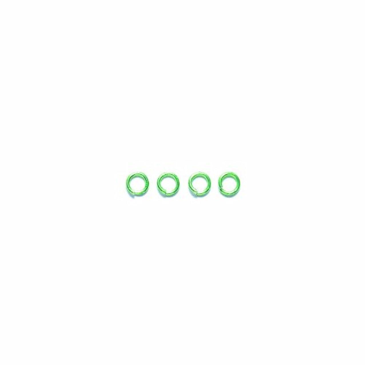 Shipwreck Beads Electroplated Brass Jump Ring, 4 mm, 19-Gauge, Metallic, Lime Green, 50 gm Pack