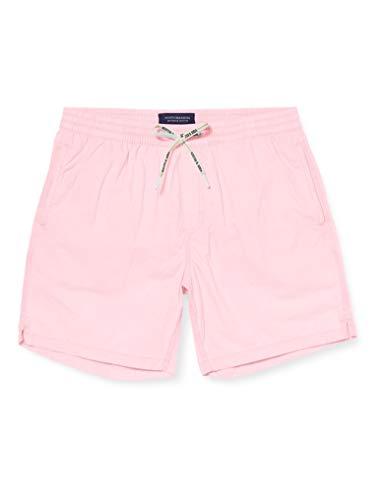 Scotch & Soda Herren Garment-Dye Badeshorts, Rosa (Hot Pink 1131), Medium (Herstellergröße:M)