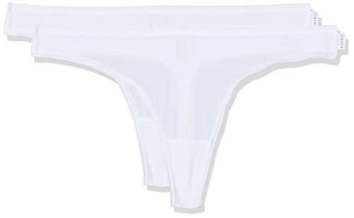 ESPRIT Bodywear Damen String 2er Pack 997EF1T810, Weiß (White 100), 38