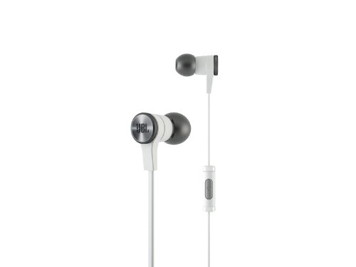 JBL E10 White In-Ear Headphones with JBL-Quality Sound and Advanced Styling, White