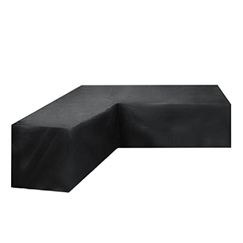 Copertura per divano ad angolo da giardino a forma di L, per cortile e cortile, resistente alle intemperie, impermeabile Oxford, protezione antipolvere per mobili da giardino