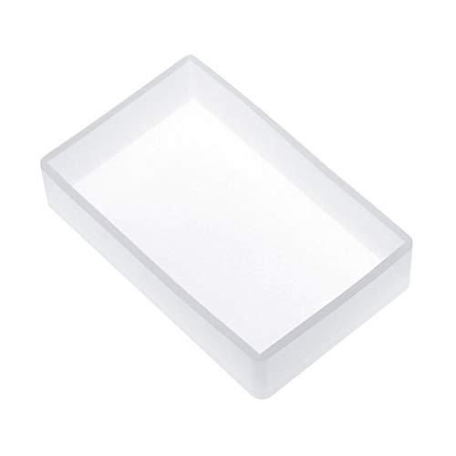 Colcolo Molde de Bloque Cuboide de Cubo de Silicona Molde de Arcilla de Jabón de Vela de Fundición de Resina Epoxi - 10x6cm
