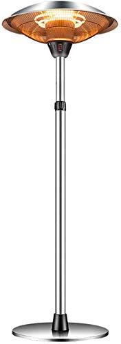 Calentador Estufa exterior Calentador de Patio altura ajustable Calentador de Patio Umbrella barra telescópica calefactores de patio interior al aire libre Paraguas Comercial acero inoxidable calentad