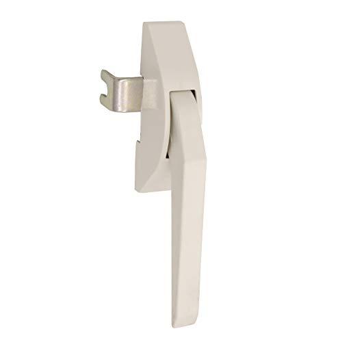 Fenstergriff DDR | klassischer Hebelgriff | Kunststoff weiß | Modell Marzahn DDR3811R - für rechte Fenster