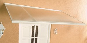 ACE Alu-Pultvordach Haustürvordach Vordach Standard weiß 120 x 85 x 38 cm