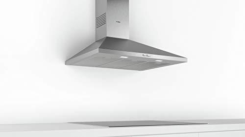 Bosch DWP94BC50 Serie 2 Wandesse / D / 90 cm / Edelstahl / wahlweise Umluft- oder Abluftbetrieb / Drucktastenschalter / Intensivstufe / Metallfettfilter (spülmaschinengeeignet)