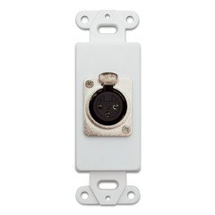 QualConnectTM Decora Wall Plate Insert, White, XLR Female to Solder Type