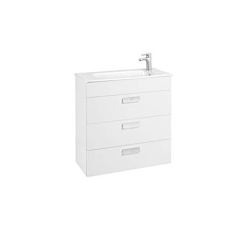 Lavabo + Mueble base 3 cajones Unik Debba Roca, 70 x 36 x 72 centímetros, color blanco (Referencia: A857127806)