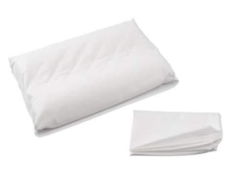 Zisa Dreams 100% Soft Cotton Contour Neck Memory Foam Pillowcase (Pillow not Included) w/Envelope Style Closure - White (Small/Medium)