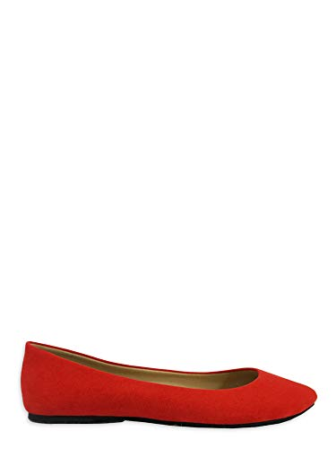 Time and Tru Women's Basic Ballet Flat Tomatoe Red Time and Tru  via @amazon