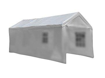 Nexos Pavillondach/Ersatzdach/Wechseldach/Dachbezug für Partyzelt Festzelt Zelt 4x8m - Dachplane 180g/m² PE wasserdicht – Farbe: weiß