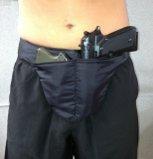 Pro-Tech Underwear Trouser Deep Concealed Crotch Carry Handgun Holster