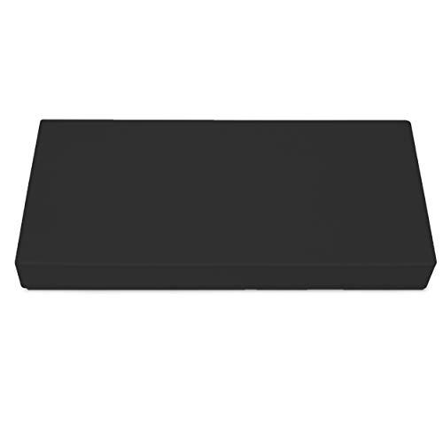 SuperKissen24. Cojín Colchón para Palet Sofá Banco 80x40 cm Asiento Cómodo e Impermeable para Muebles Terazza Exterior - Nero