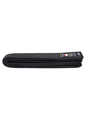 Tokaido Cinturón de kárate Unisex para Adultos, de Seda sintética, Negro, 365 cm