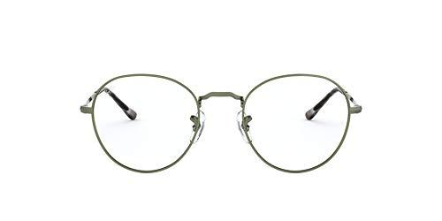 Ray-Ban Round Metal II Gafas de lectura, Green, 51 Unisex Adulto