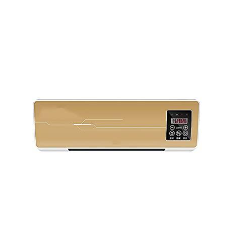 Ventilador Eléctrico Del calefactores, Soplador De Aire Caliente Con Termostato Y Control Remoto De 6 M, Combo De Ventilador Y Ventilador, calefactoreses De Alta Potencia Para Tienda De (Size:84x18cm)