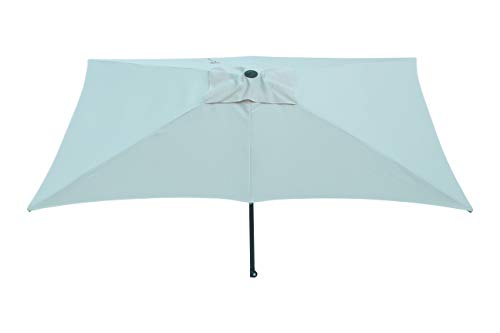 Maffei Art 138r Kronos Parasol rectangulaire cm 200x300, Tissu Polyester. Made in Italy. Couleur Blanc
