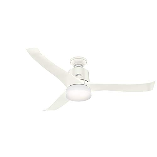Hunter Symphony Indoor Wi-Fi Ceiling Fan with LED Light and Remote Control, 54', White