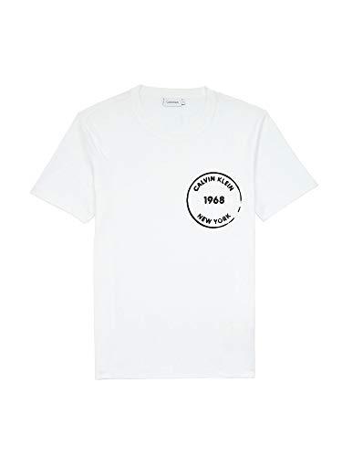 Calvin Klein K10K104509 T-Shirt Uomo Bianco M