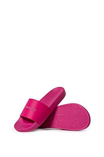 CALVIN KLEIN Jeans - Sandalias de piscina para mujer, talla, fucsia, 40 EU