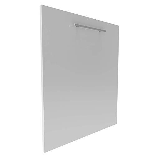Geschirrspülerfront 19mm voll-, teilintegriert und nach Maß (Weiß (hochglanz), 594x715mm)