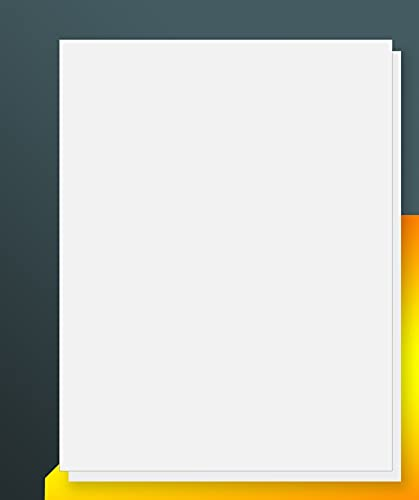"iLable 8.5"" x 11"" Full Sheet Sticker Paper for Laser & Inkjet Printers[100 Sheets,100 Labels]"