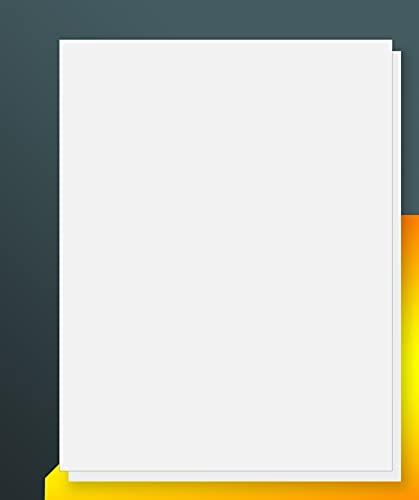 iLable 8.5' x 11' Full Sheet Sticker Paper for Laser & Inkjet Printers[100 Sheets,100 Labels]