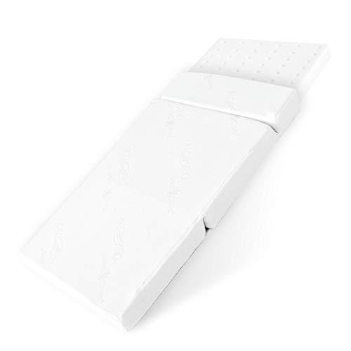 BestCare  - Prodotto in Europa Premium Materasso da viaggio, Altezza totale 8 cm, fodera Aloe Vera, non è necessario usare lenzuola, canali di areazione, Dimensione:120x60cm