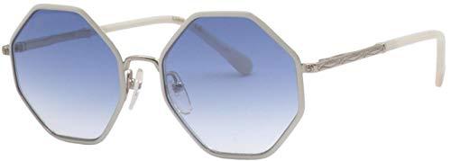 Chloé CE3102S - Gafas de Sol de Metal Dorado/Blanco, Unisex, para Adulto, Multicolor, estándar