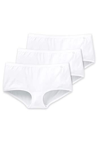 Schiesser AG Schiesser Damen 95/5 Panties (3erPack) - Weiß (weiss 100) - 42/XL