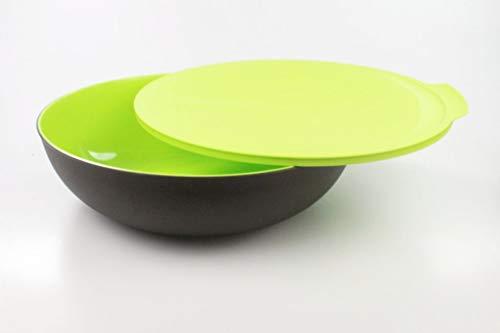 TUPPERWARE Allegra 3,5 L grün dunkelbraun Schüssel Schale Servierschale Allegra-Gold