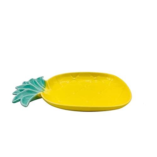 Lindo Aguacate Forma Forma Cerámica Fruta Placa Snack Plato Nordic Creative Desayuno Cereal Placa de Postre (Color : 18)