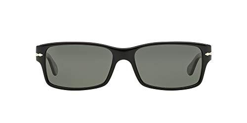 Persol 0Po2803S 95/58 58 Occhiali da Sole, Nero (Black/Crystal Green Polarized), Unisex-Adulto