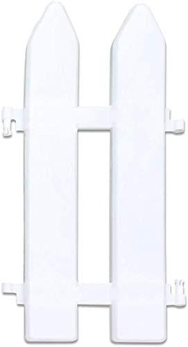 AROYEL Kunststoff-Zaun-Dekoration, weißes Holz Lattenzaun, dekorativer Zaun für Miniatur-Garten, Feengarten-Ornamente 20 Stück.