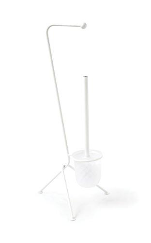 Gelco Design Tiny Serviteur WC, Métal, Blanc, 26,6 x 24 x 59,5 cm